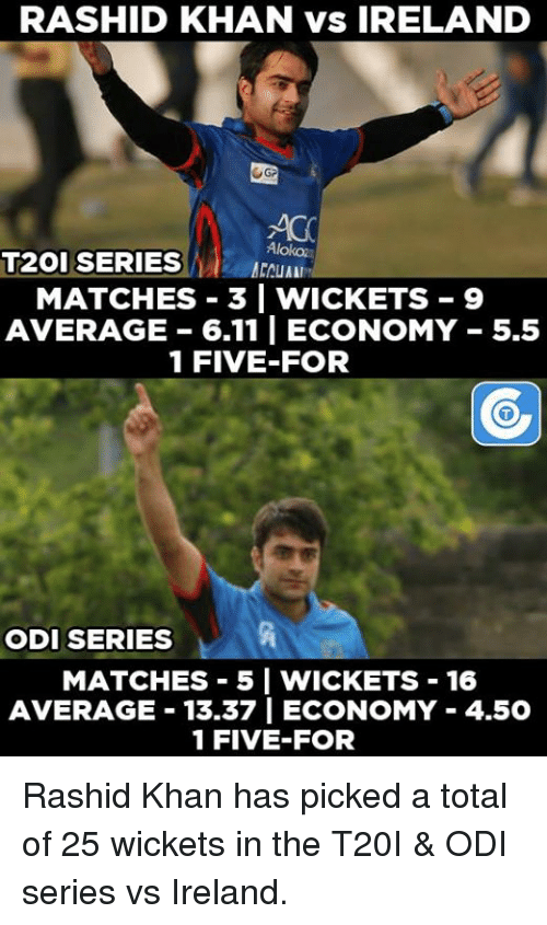 odie: Rashid Khan has picked a total of 25 wickets in the T20I & ODI series vs Ireland.