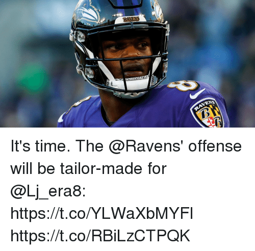 Memes, Ravens, and Time: RAVENS  NS It's time. The @Ravens' offense will be tailor-made for @Lj_era8: https://t.co/YLWaXbMYFl https://t.co/RBiLzCTPQK