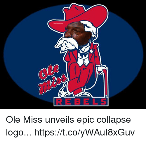 ole miss: RE B ELS Ole Miss unveils epic collapse logo... https://t.co/yWAuI8xGuv