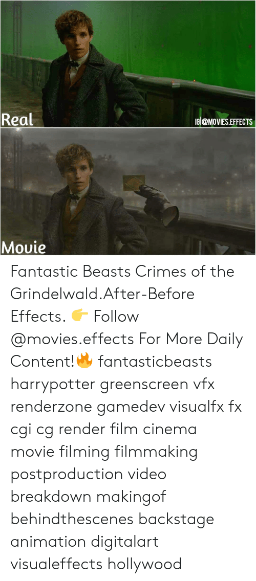 harrypotter: Real  IG @MoVIES.EFFECTS  Movie  VMC Fantastic Beasts Crimes of the Grindelwald.After-Before Effects. 👉 Follow @movies.effects For More Daily Content!🔥 fantasticbeasts harrypotter greenscreen vfx renderzone gamedev visualfx fx cgi cg render film cinema movie filming filmmaking postproduction video breakdown makingof behindthescenes backstage animation digitalart visualeffects hollywood