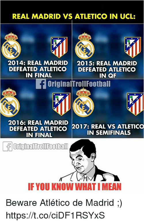 25 Best Memes About Real Madrid Vs Atletico Madrid Real