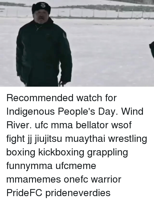 Boxing, Memes, and Ufc: Recommended watch for Indigenous People's Day. Wind River. ufc mma bellator wsof fight jj jiujitsu muaythai wrestling boxing kickboxing grappling funnymma ufcmeme mmamemes onefc warrior PrideFC prideneverdies