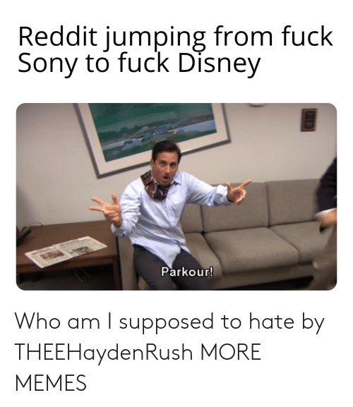 jumping: Reddit jumping from fuck  Sony to fuck Disney  Parkour! Who am I supposed to hate by THEEHaydenRush MORE MEMES