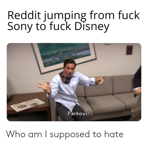 jumping: Reddit jumping from fuck  Sony to fuck Disney  Parkour! Who am I supposed to hate