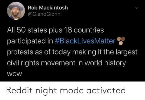 mode: Reddit night mode activated