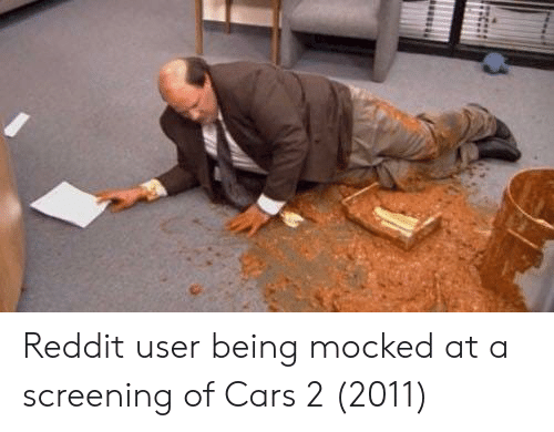 Reddit User Being Mocked at a Screening of Cars 2 2011