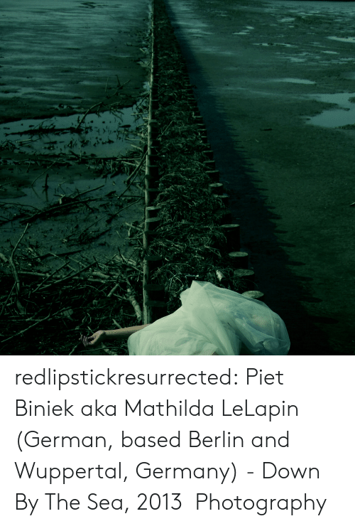 Tumblr, Blog, and Germany: redlipstickresurrected:  Piet Biniek aka Mathilda LeLapin (German, based Berlin and Wuppertal, Germany) - Down By The Sea, 2013 Photography