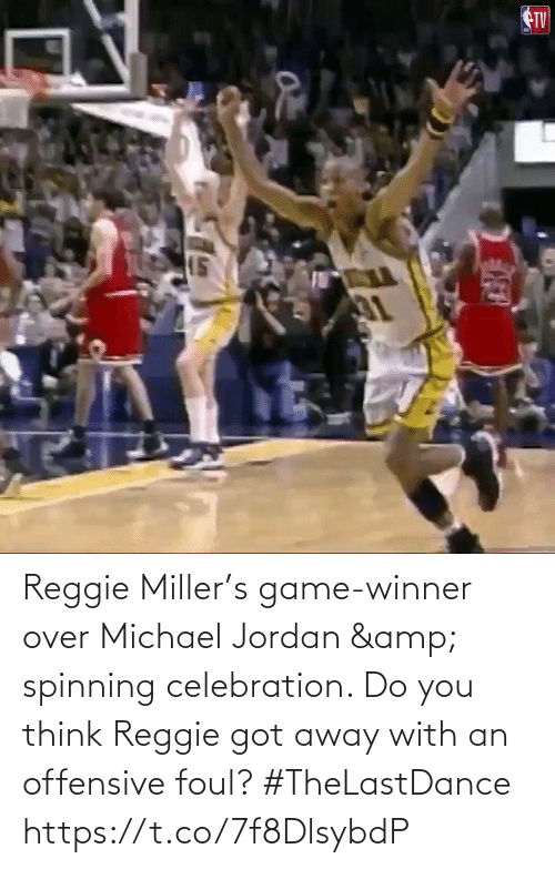 You Think: Reggie Miller's game-winner over Michael Jordan & spinning celebration.   Do you think Reggie got away with an offensive foul?   #TheLastDance    https://t.co/7f8DlsybdP
