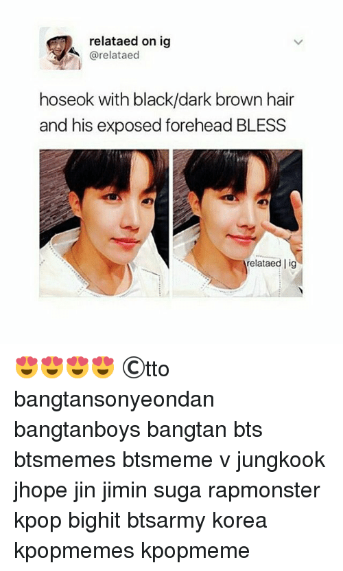 Relataed On Ig Aed Hoseok With Blackdark Brown Hair And His Exposed