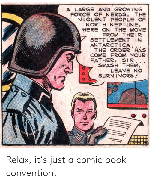 Comic-book: Relax, it's just a comic book convention.