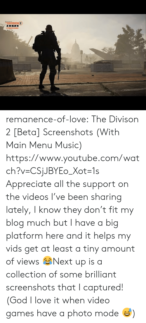 God, Love, and Music: remanence-of-love:  The Divison 2 [Beta] Screenshots (With Main Menu Music)      https://www.youtube.com/watch?v=CSjJBYEo_Xot=1s  Appreciate all the support on the videos I've been sharing lately, I know they don't fit my blog much but I have a big platform here and it helps my vids get at least a tiny amount of views 😂Next up is a collection of some brilliant screenshots that I captured! (God I love it when video games have a photo mode 😅)