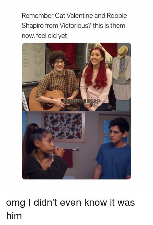 Omg, Victorious, and Girl Memes: Remember Cat Valentine and Robbie  Shapiro from Victorious? this is them  now, feel old yet omg I didn't even know it was him