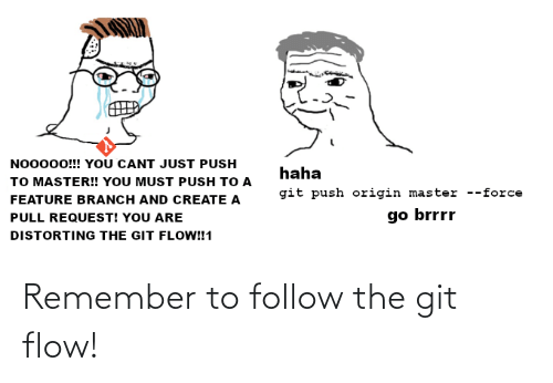 remember: Remember to follow the git flow!