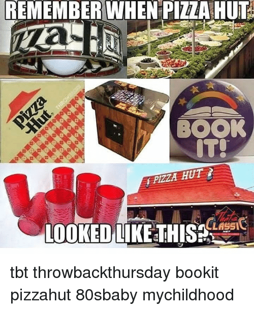 Memes, Pizza, and Pizza Hut: REMEMBER WHEN PIZZA HUT  BOOK  LESI  LOOKED LIKE THIS tbt throwbackthursday bookit pizzahut 80sbaby mychildhood