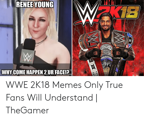 Wwe Memes 2017: RENEE YOUNG  WHYCOME HAPPEN 2 UR FACEIP WWE 2K18 Memes Only True Fans Will Understand | TheGamer