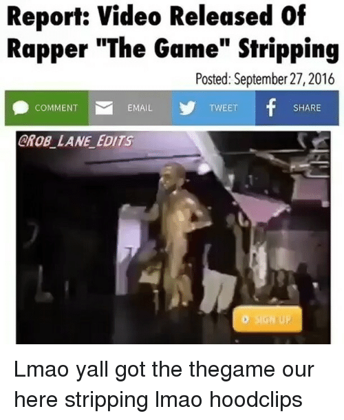 Funny Lmao And The Game Report Video Released Of Rapper The