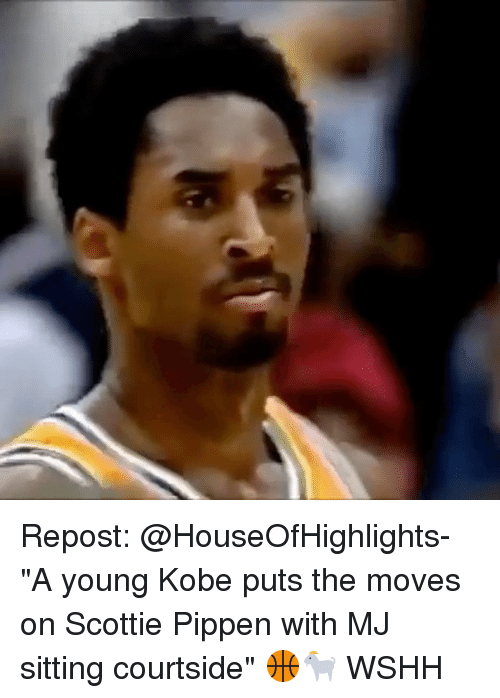 "Memes, Wshh, and Kobe: Repost: @HouseOfHighlights- ""A young Kobe puts the moves on Scottie Pippen with MJ sitting courtside"" 🏀🐐 WSHH"