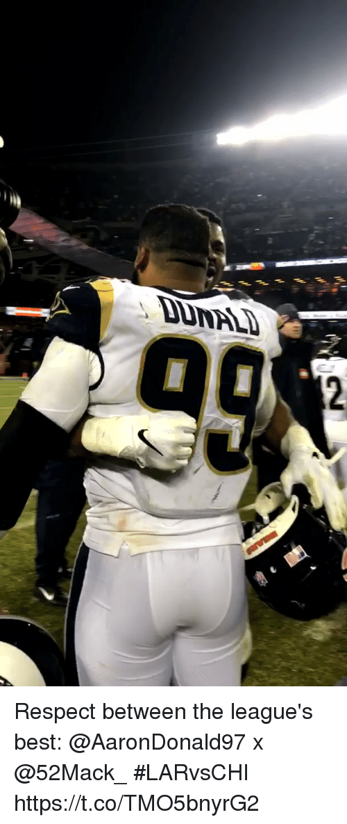 Memes, Respect, and Best: Respect between the league's best: @AaronDonald97 x @52Mack_   #LARvsCHI https://t.co/TMO5bnyrG2