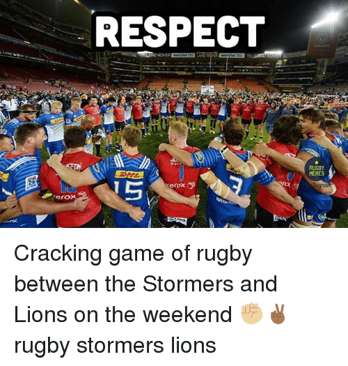 xerox: RESPECT  Xerox  RUGBY  MEMES Cracking game of rugby between the Stormers and Lions on the weekend ✊🏼✌🏾 rugby stormers lions