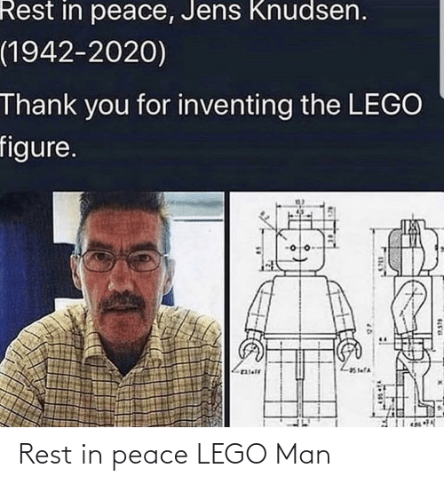 lego: Rest in peace LEGO Man