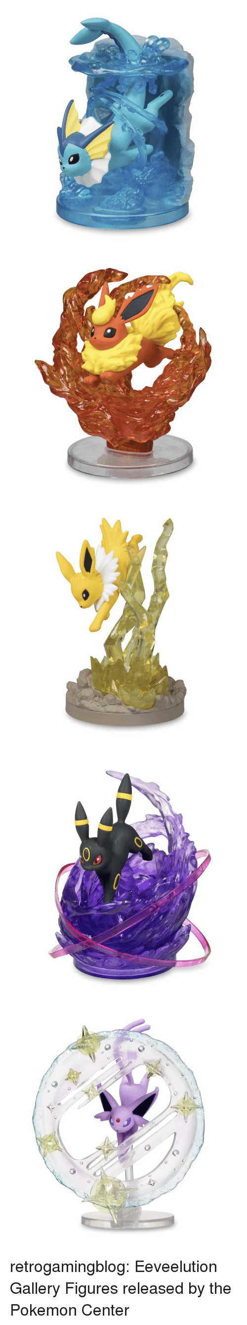 Pokemon, Tumblr, and Blog: retrogamingblog:  Eeveelution Gallery Figures released by the Pokemon Center