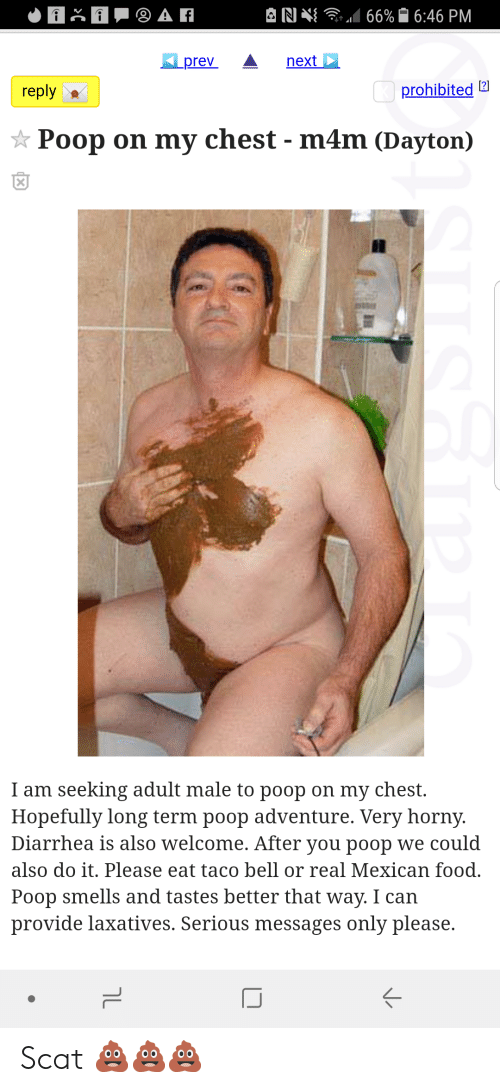 poop on chest bet