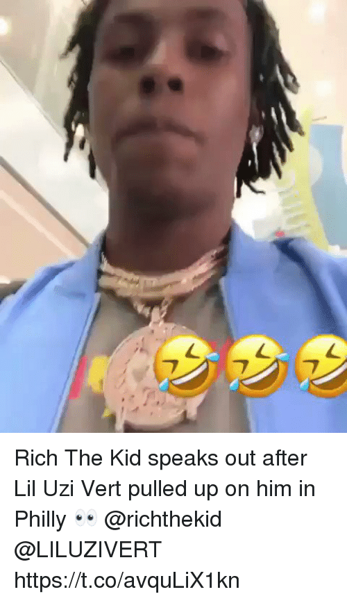 Him, Philly, and Uzi: Rich The Kid speaks out after Lil Uzi Vert pulled up on him in Philly 👀 @richthekid @LILUZIVERT https://t.co/avquLiX1kn