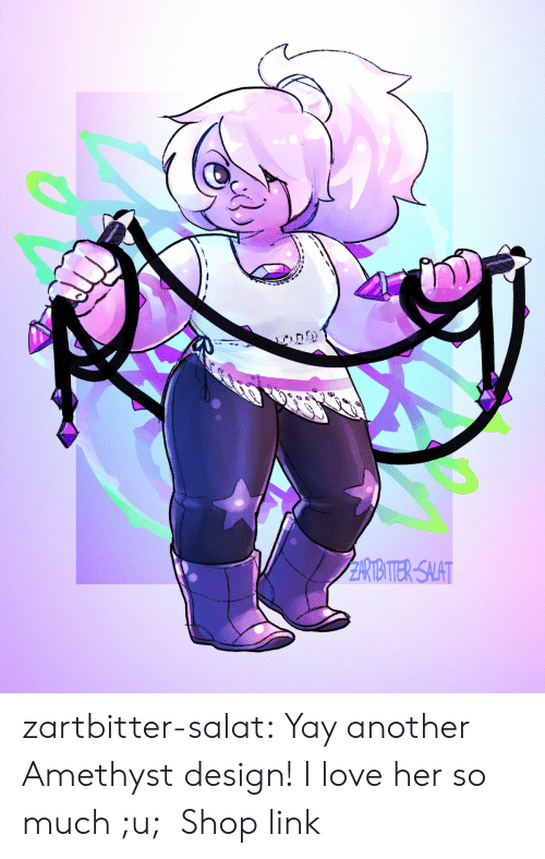 asc: RIITER-SALAT zartbitter-salat:  Yay another Amethyst design! I love her so much ;u;  Shop link