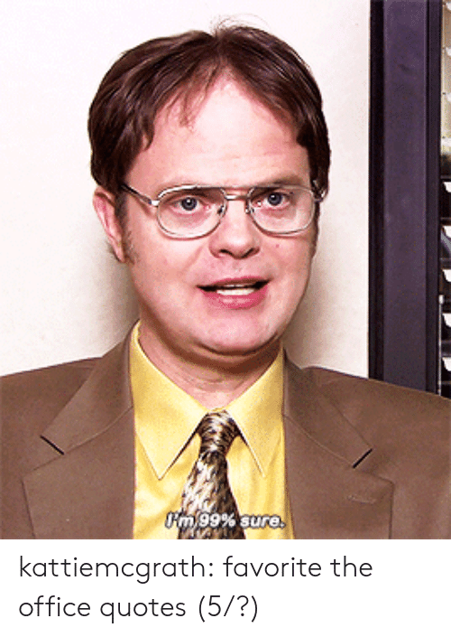 The Office, Tumblr, and Blog: rm,99% sure kattiemcgrath:  favorite the office quotes(5/?)