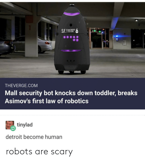 Robots: robots are scary