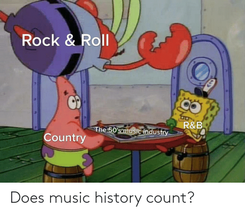 Industry: Rock & Roll  R&B  The 50's music industry  Country Does music history count?