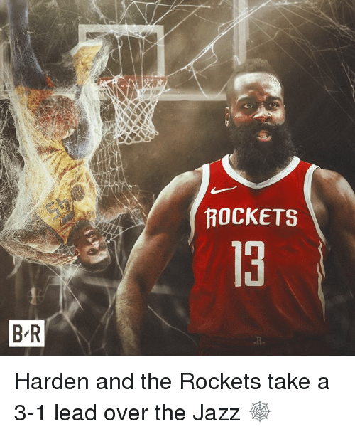 3 1 Lead: ROCKETS  13  B R Harden and the Rockets take a 3-1 lead over the Jazz 🕸️