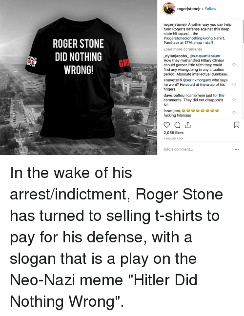 b10e1f9a1 Hillary Clinton, Lol, and Meme: rogerjstonejr Follow rogerjstonejr Another  way you can help