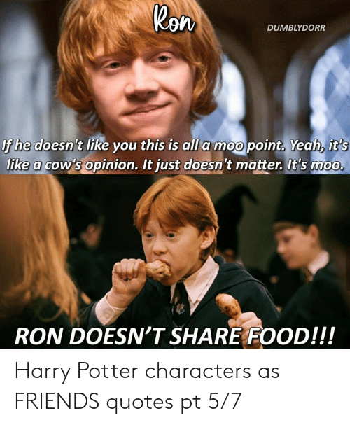 ron dumblydorr if he doesn t like you this is all a moo point yeah