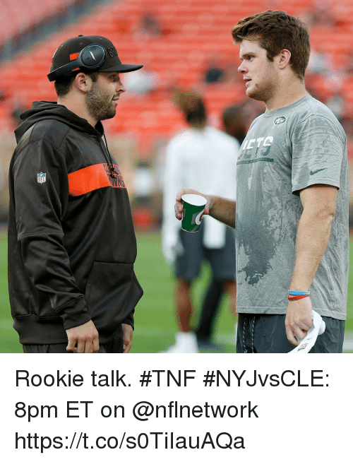 Memes, 🤖, and Tnf: Rookie talk. #TNF  #NYJvsCLE: 8pm ET on @nflnetwork https://t.co/s0TiIauAQa