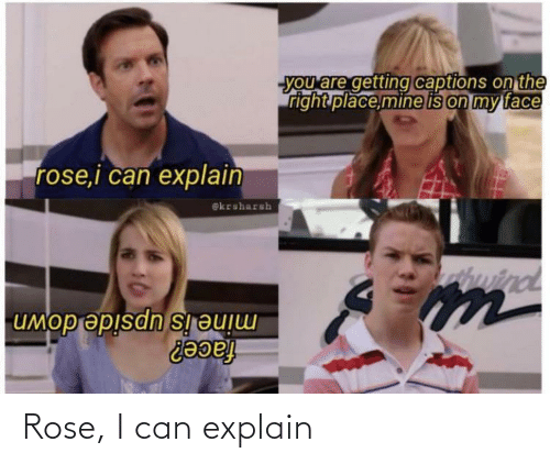 i can: Rose, I can explain
