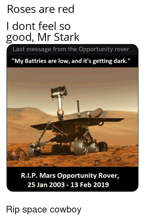 mars rover last message received - photo #26