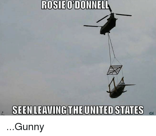 odonnell: ROSIE ODONNELL  SEEN LEAVING THE UNITED STATES ...Gunny