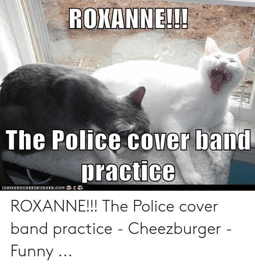 Band Practice Meme: ROWANNE!!!  The Police cover band  practice ROXANNE!!! The Police cover band practice - Cheezburger - Funny ...