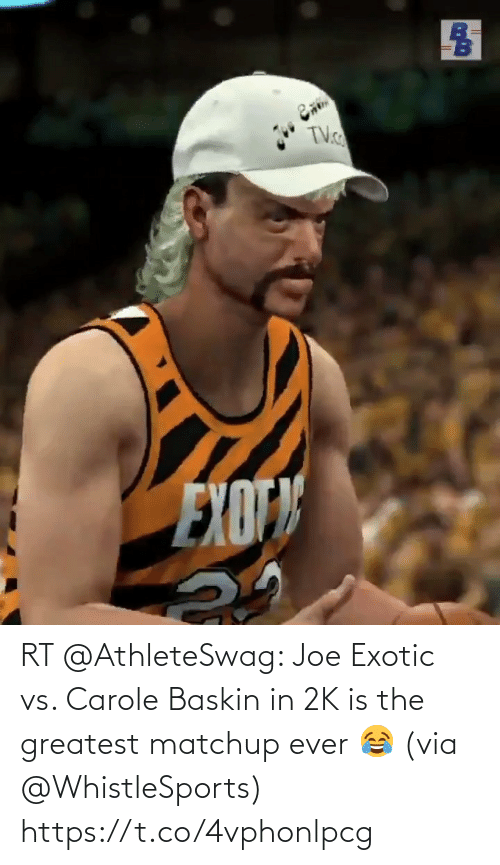 Carole: RT @AthleteSwag: Joe Exotic vs. Carole Baskin in 2K is the greatest matchup ever 😂 (via @WhistleSports) https://t.co/4vphonlpcg