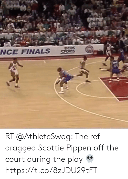 The Ref: RT @AthleteSwag: The ref dragged Scottie Pippen off the court during the play 💀 https://t.co/8zJDU29tFT