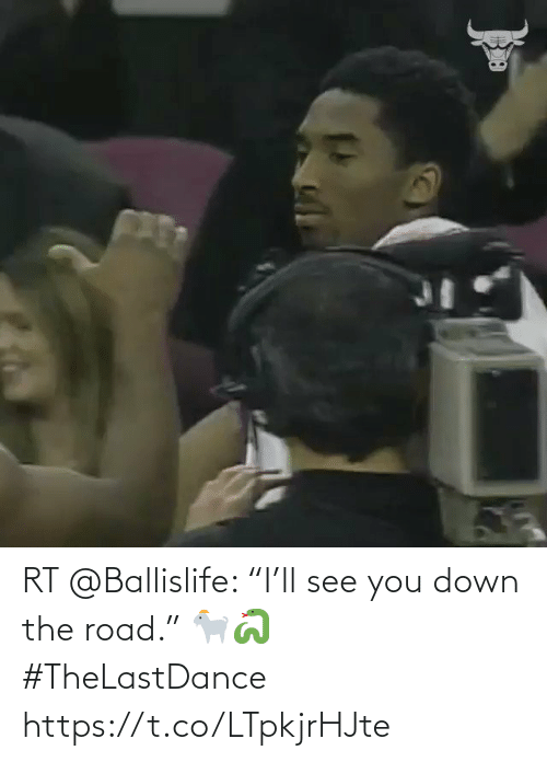 "The Road: RT @Ballislife: ""I'll see you down the road.""  🐐🐍 #TheLastDance https://t.co/LTpkjrHJte"