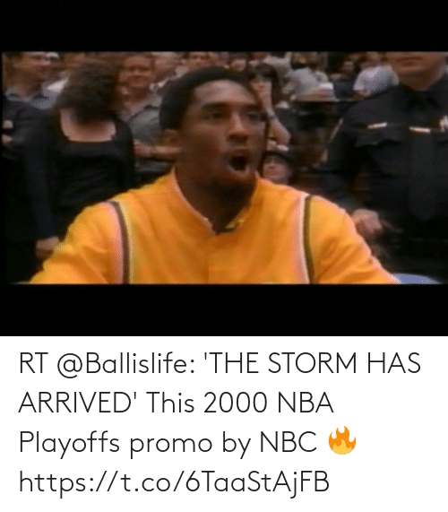 nbc: RT @Ballislife: 'THE STORM HAS ARRIVED'  This 2000 NBA Playoffs promo by NBC 🔥 https://t.co/6TaaStAjFB