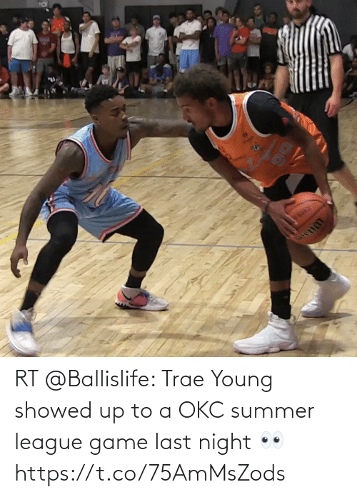 night: RT @Ballislife: Trae Young showed up to a OKC summer league game last night 👀 https://t.co/75AmMsZods