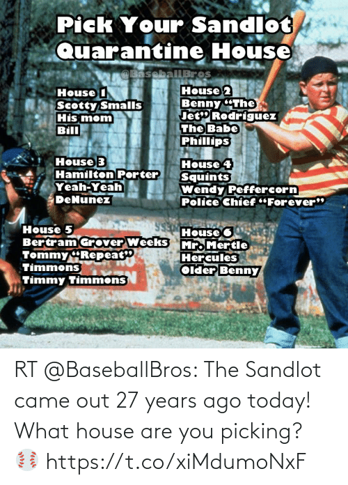 ballmemes.com: RT @BaseballBros: The Sandlot came out 27 years ago today! What house are you picking? ⚾️ https://t.co/xiMdumoNxF