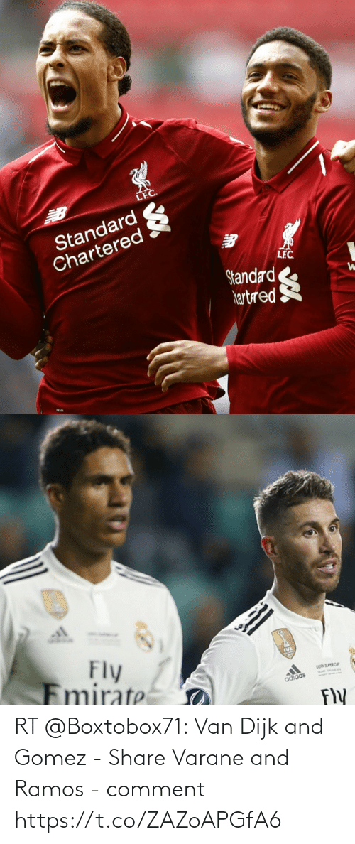 ballmemes.com: RT @Boxtobox71: Van Dijk and Gomez - Share Varane and Ramos - comment https://t.co/ZAZoAPGfA6