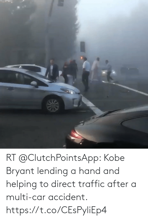 Kobe Bryant, Memes, and Traffic: RT @ClutchPointsApp: Kobe Bryant lending a hand and helping to direct traffic after a multi-car accident. https://t.co/CEsPyliEp4