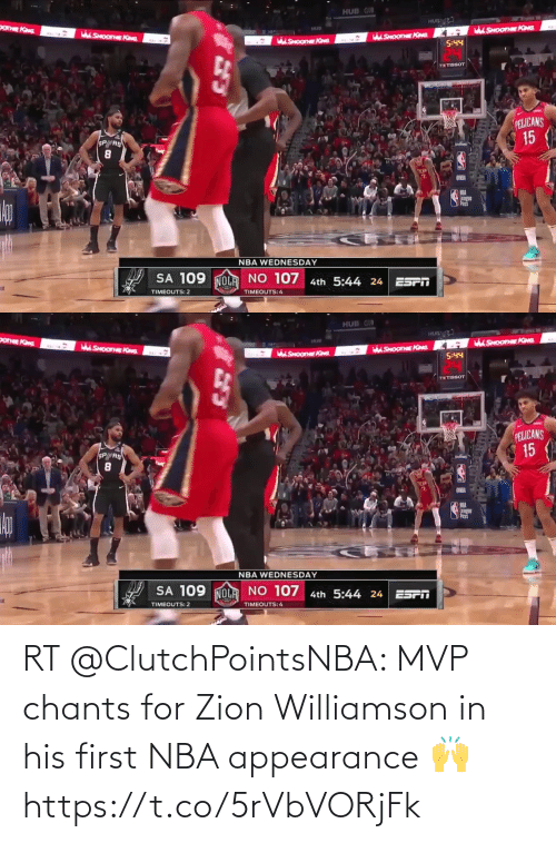 ballmemes.com: RT @ClutchPointsNBA: MVP chants for Zion Williamson in his first NBA appearance 🙌 https://t.co/5rVbVORjFk