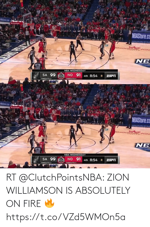ballmemes.com: RT @ClutchPointsNBA: ZION WILLIAMSON IS ABSOLUTELY ON FIRE 🔥 https://t.co/VZd5WMOn5a