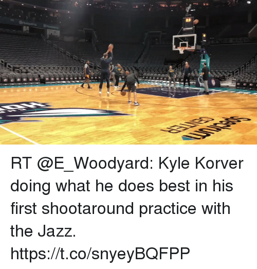 Memes, Kyle Korver, and Best: RT @E_Woodyard: Kyle Korver doing what he does best in his first shootaround practice with the Jazz. https://t.co/snyeyBQFPP
